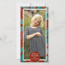 Merry Christmas Holly Berry Holidays Photo Holiday Card