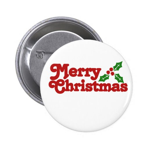 Merry Christmas Holly Pins