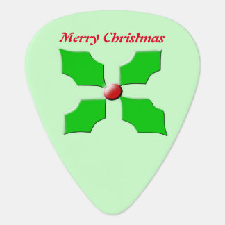 Merry Christmas Holly Custom Guitar Pick