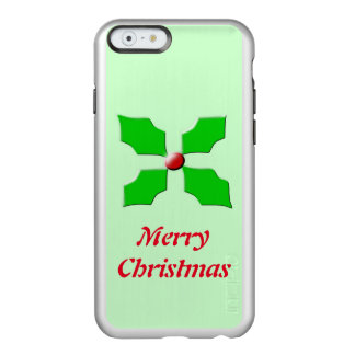 Merry Christmas Holly Custom iPhone Case