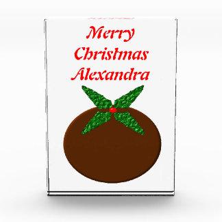 Merry Christmas Holly Customizable Decoration Awards