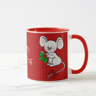 Merry Christmas Holly from a Cute Mouse Mug