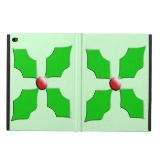 Merry Christmas Holly iPad Case
