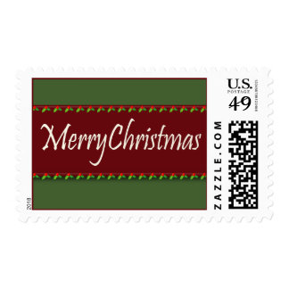 Merry Christmas Holly Ivy Stamp