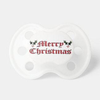Merry Christmas - Holly Pacifier
