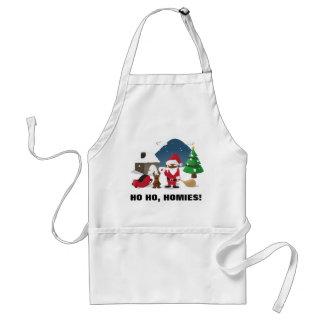 Merry Christmas Homeboys: Black Santa & Blingin' Adult Apron