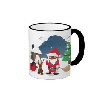 Merry Christmas Homeboys: Black Santa & Blingin' Ringer Mug