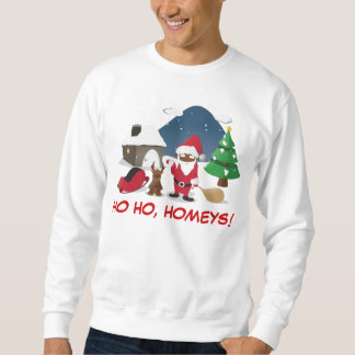 Merry Christmas Homeboys: Black Santa & Blingin' Sweatshirt