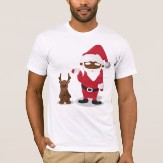 Merry Christmas Homeboys: Black Santa & Blingin' T-Shirt