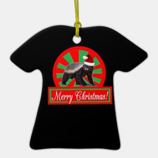 Merry Christmas Honey Badger T-shirt Ornament