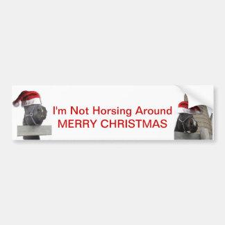 Merry Christmas Horse Bumper Sticker