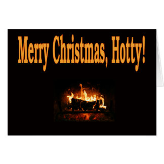 Merry Christmas, Hotty Greeting Card