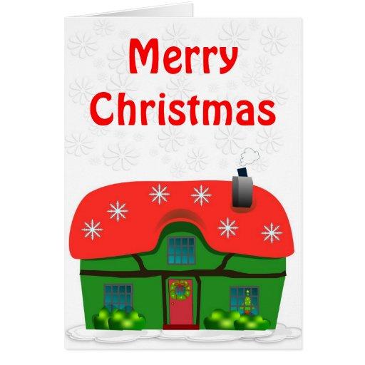 MERRY CHRISTMAS HOUSE CARD