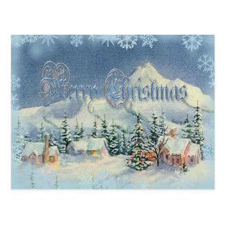 MERRY CHRISTMAS HOUSES by SHARON SHARPE Postcard