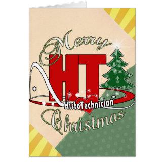 MERRY CHRISTMAS HT HISTOTECHNICIAN CARD