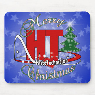 MERRY CHRISTMAS HT HISTOTECHNICIAN MOUSE PAD