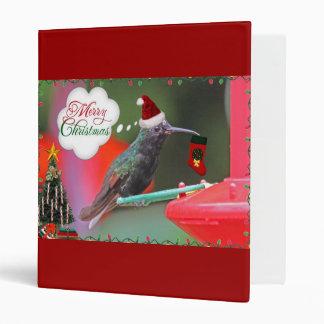 Merry Christmas Hummingbird Binder