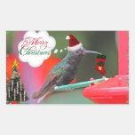 Merry Christmas Hummingbird Stickers