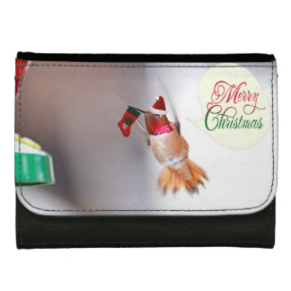 Merry Christmas Hummingbird with Xmas Stocking Wallets