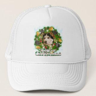 Merry Christmas Husky Trucker Hat