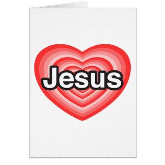 Merry Christmas! I love Jesus. Jesus heart Card