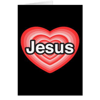 Merry Christmas. I love Jesus. Jesus heart Card