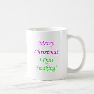 Merry Christmas I Quit Smoking! 2 Coffee Mug