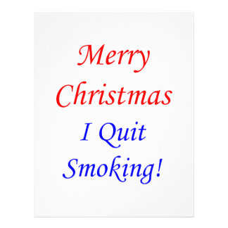Merry Christmas I Quit Smoking! Personalized Flyer
