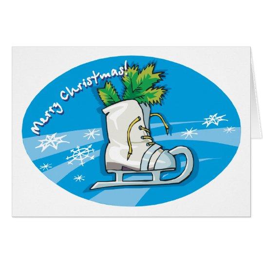Merry Christmas Ice Skates Card
