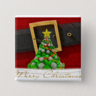 Merry Christmas illustration Button