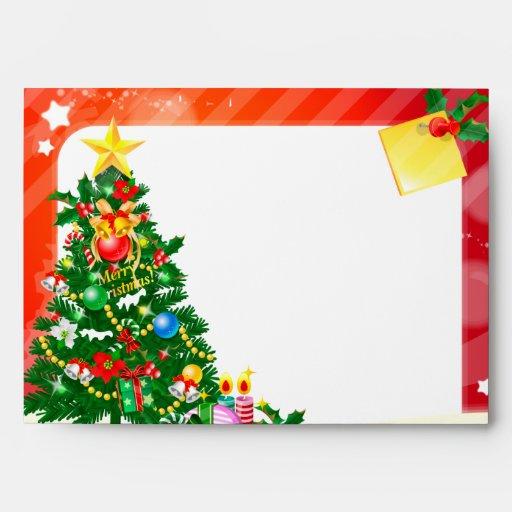 Merry Christmas illustration Envelope