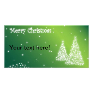 Merry Christmas illustration Photo Card