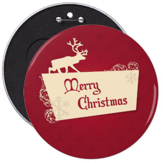 Merry Christmas illustration Pinback Button