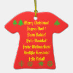 Merry Christmas! in 6 languages Christmas Ornament