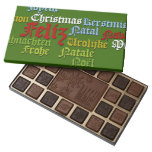 Merry Christmas! in 6 languages cloud 45 Piece Box Of Chocolates