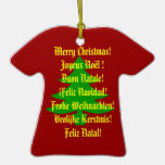 Merry Christmas! in 6 languages Ornaments