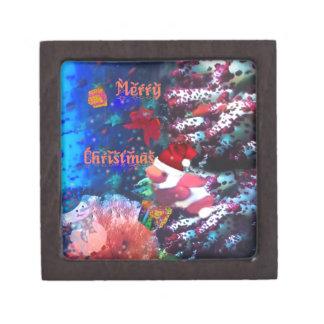 Merry Christmas in aquarium Jewelry Box