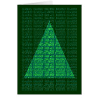 Merry Christmas in Binary Greeting Cards