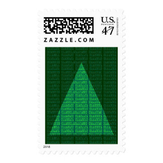 Merry Christmas in Binary Postage