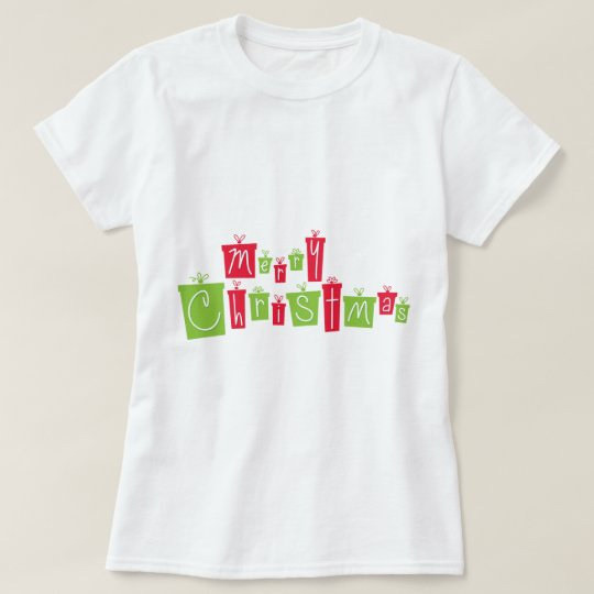 Merry Christmas in Gift Boxes T-Shirt
