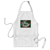 Merry Christmas in Green Apron