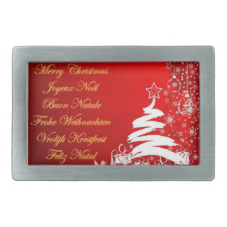Merry Christmas in more than one language Belt Buckle