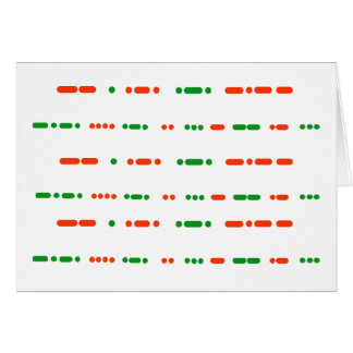 Merry Christmas in Morse Code Small Note Cards