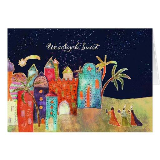 Merry Christmas In Polish Wesołych Świąt Card Zazzle