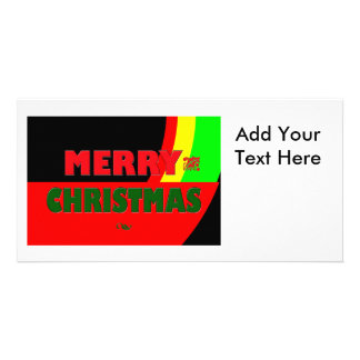 Merry Christmas in Rasta Colors Card