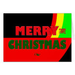 Merry Christmas in Rasta Colors Cards