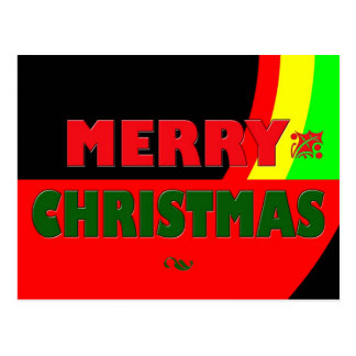 Merry Christmas in Rasta Colors Postcard