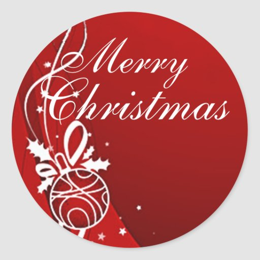 Merry Christmas In Red By Sharon Sharpe Classic Round