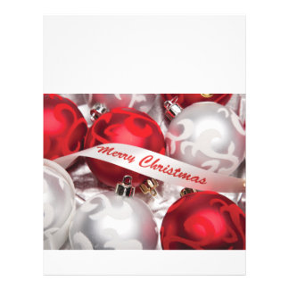 Merry Christmas in Red Silver White Flyer