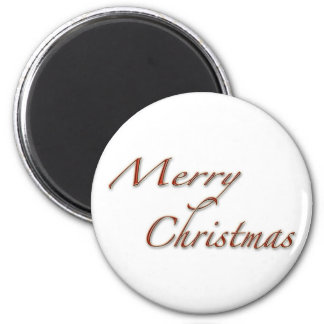 Merry Christmas in Red Text Magnet